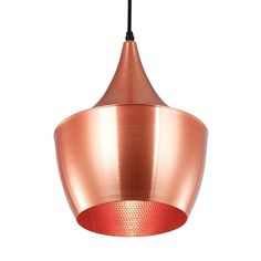 Wide Beat Pendant Light in Copper | dotandbo.com - This is one of the ones we really want for the kitchen!