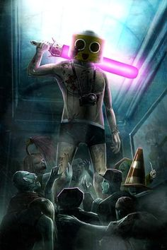 Love that game. Anyone who has ever played Dead Rising will have walked around in that outfit, for sure. CHOP til you DROP Dead Rising, Best Zombie, Zombie Apocalypse, Picture Video, Nerd, Geek Stuff, Darth Vader, Fan Art, Deviantart