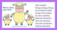 Rimas cortas para niños: Las ovejas