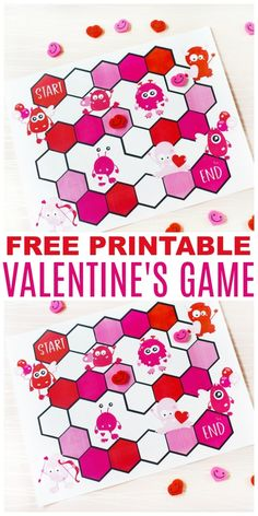 This free Printable Valentine Game is colorful and easy to play. This fun Valentine's Day game is perfect to entertain kids at school class parties. #printable #valentinesday #freeprintables