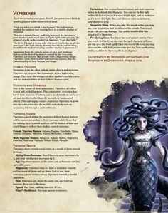 Homebrew material for edition Dungeons and Dragons made by the community. Dungeons And Dragons Races, Dungeons And Dragons Classes, Dungeons And Dragons Homebrew, Dungeons And Dragons Characters, Dnd Characters, Mythical Creatures Art, Mythological Creatures, Magical Creatures, Myths & Monsters