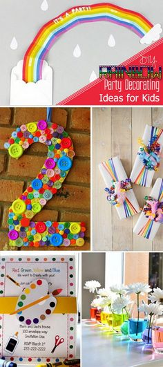 DIY Rainbow Party Decorating Ideas for Kids!