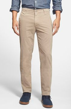 AG 'The Lux' Tailored Straight Leg Chinos. #ag #cloth #