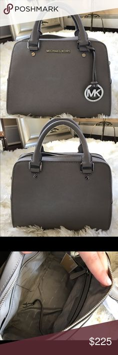 MK steel gray tote/satchel This authentic Michael Kors jet set satchel is everything!! BNWT perfect condition. Comes with optional strap if you wanted to wear as a cross body! No trades & offers welcome💖 Michael Kors Bags Totes