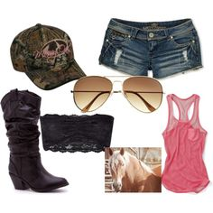 Mossy Oak Kind of Girl :)......kinda city, REAL  boots, like Justins or something