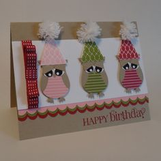 Happy Birthday with Owls by wiebergs - Cards and Paper Crafts at Splitcoaststampers