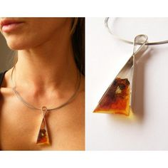 Amber Pendant Silver 925 genuine amber for mom NEW UNIQUE