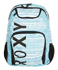 ROXY JUNIORS SHADOW SWELL BACKPACK, TILE BLUE, ONE SIZE - Click image twice for more info - See a larger selection of blue backpacks at http://kidsbackpackstore.com/product-category/red-backpacks/. - kids, juniors, back to school, kids fashion ideas, teens fashion ideas, school supplies, backpack, bag , teenagers girls , gift ideas, blue