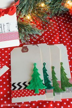 Easy! Use Washi Tape to decorate plain shipping tags to make Christmas Gift Tags.