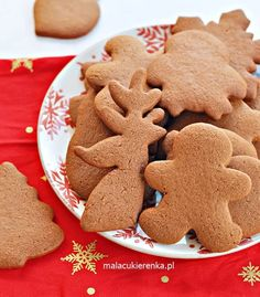 Smoothie, Gingerbread Cookies, Cookie Recipes, Deserts, Sweets, Meals, Baking, Christmas, Holidays