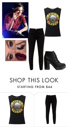 """Concert with Harry"" by lovelyfashionstyles ❤ liked on Polyvore featuring Miss Selfridge, Ted Baker and H&M"