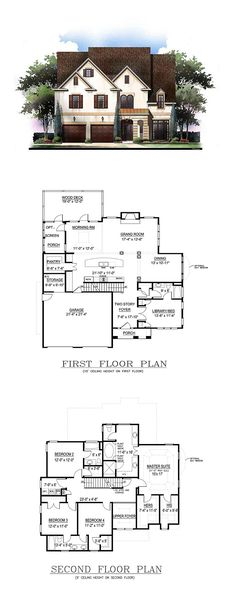 New House Plan 72243 | Total Living Area: 2943 sq. ft., 5 bedrooms and 4 bathrooms. #newhouseplan