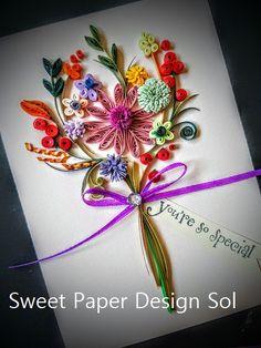 Papier filigraan herfst bloemboeket kaart - dank u, gelukkige verjaardag, verjaardag, liefde, kunst aan de muur