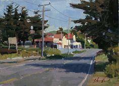 """California Backroad"" by John Poon - Acrylic 6"" X 8"""
