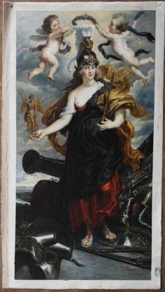 61x122cm Repro- of Peter Paul Rubens Marie de Medicis as Bellona oil painting