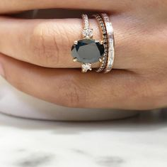 13 Black Engagement Rings For Brides With A Dark Side | HuffPost