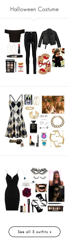 """Halloween Costume"" by one-direction-outfits-of-the-day ❤ liked on Polyvore featuring Nasty Gal, Dolce Vita, Melissa Joy Manning, NARS Cosmetics, Bobbi Brown Cosmetics, Moschino, Versace, Giuseppe Zanotti, Belk Silverworks and Pieces"