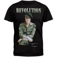 John Lennon - Revolution Black T-Shirt