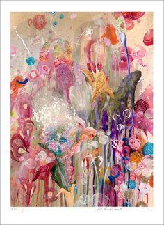 "Amanda Krantz, "" All Things Grow II"", Acrylic, Oil & Pen on Canvas"