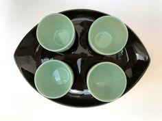 vintage mint eggcup set