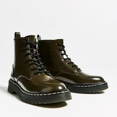 Image 5 of FLAT MILITARY ANKLE BOOTS from Zara