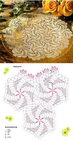 Crochet doily chart pattern: