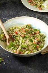 Quinoa Tabbouleh   Summer Berry Cobbler from the Skinnytaste Cookbook