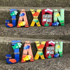 Is your little one Oh FIshally turning ONE? Well let us help you spruce up their party decor with these adorable, colorful totally personalized paper mache letters. They sure are a catch! First Birthday Favors, Boys 1st Birthday Party Ideas, First Birthday Photos, 1st Boy Birthday, First Birthday Parties, Birthday Decorations, First Birthdays, Room Decorations, Teenage Boy Birthday