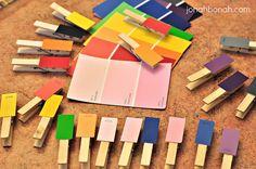Preschool Paint Chip color matching
