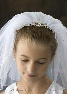 First Communion Veils Crown Christian Expressions Collection V850   eBay
