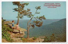 An Ozark Mountains Overlook, Arkansas 1950s States Roadside America Postcard | eBay