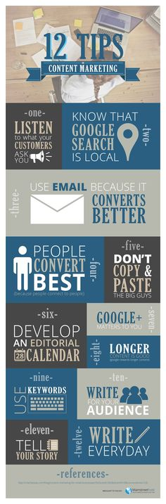 12 tips for content marketing