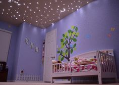 The twinkling stars in the ceiling will hopefully be in baby Castro's nursery... good thing daddy is an electrician :)