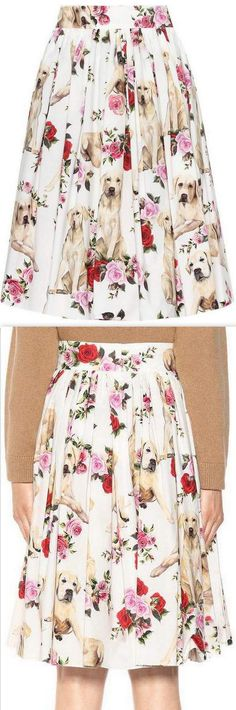 Dog & Rose Printed Skirt