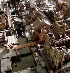 Sean Patten's Mordheim table. Can you imagine gaming on this thing? Talk about a centerpiece...
