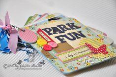 Park fun mini-album by Donna Espiritu using Pretty Paper Studio's April project kit