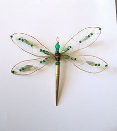 Wire Wrapped Dragonfly Suncatcher Wall Hanging