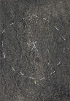 ANTONI TÀPIES ANTONI TÀPIES, carborundum, signerad och numrerad 61/75.  Bildstrl. 50x35 cm.  Condition report      Yellowed. Partly worn.  Literature     TÀPIES, Aeuvre gravé, Maeght Éditeur,1991, s. 63.