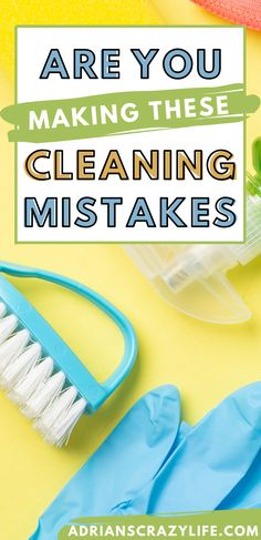 My definition of a cleaning mistake is one that causes you waste time cleaning.  We're busy people, so why spend MORE time cleaning instead of something more fun? Speed Cleaning, House Cleaning Tips, Diy Cleaning Products, Cleaning Hacks, Organized Mom, Container Organization, Clean Microfiber, Diy Cleaners, Crazy Life