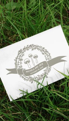 Cute as a button (mushroom) wedding logo | arDesign on Etsy