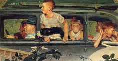 Going - Norman Rockwell Paintings Wallpaper Image Norman Rockwell Christmas, Norman Rockwell Art, Norman Rockwell Paintings, Art Of Manliness, Christmas Wallpaper Free, Gifs, Heritage Museum, Family Traditions, Oeuvre D'art
