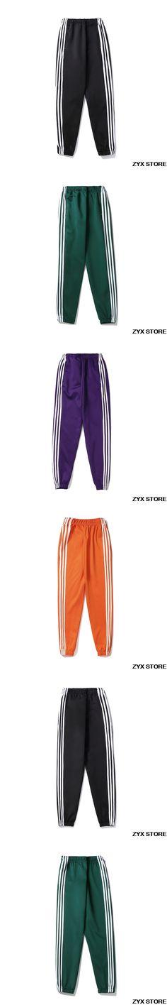 2017 joggers sweatpants men women sportswear Double stripe hip hop cotton pants men causal trousers leggings elastic waist pants