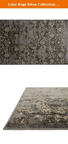 "Loloi Rugs Elton Collection Area Rug, 2'3"" by 3'9"", Pewter/Beige. Designed to look like a modern version of yesterday's classics, the Elton Collection features intentionally distressed pattern that matches well with contemporary to transitional spaces. Elton is power loomed in Egypt of 100% polypropylene for great durability and easy maintenance. Available in six sizes including a runner and a scatter."