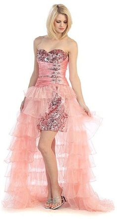 ON SPECIAL - Long Ruffled Skirt Thigh Slit Strapless Green Prom Dress. Sequin  Prom DressesProm ... 91ff953c5bb9