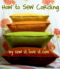 Sewing Cording- How to Make piping trim #sew #learn #cording
