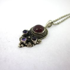 India Inspired Jewelry, Indian India Necklace, Spinel Jewelry, Flourite Pendant by LeviathanJewelry on Etsy #indiainspred #indiannecklace #womensjewelry