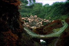 Masouleh village iran. It's lush green, enchanting and built into the mountain- one of my favorite places