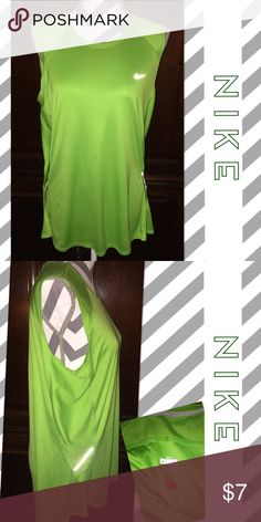 NIKE Neon Workout Top NIKE Neon Workout Top in Ladies size XL. Nice preowned condition. Orig. $25 Nike Tops