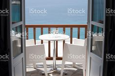 Two glasses of wine on a balcony royalty-free stock photo