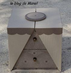 Les cartonnages de Manel / boite K'do carrée